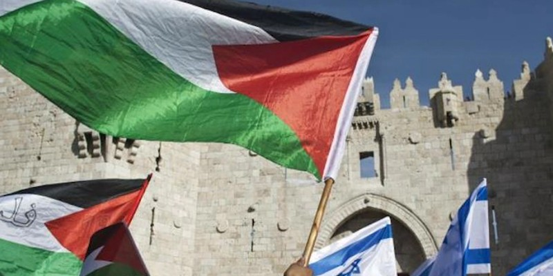 """A screenshot from the film """"Solidarity: Five Largely Unknown truths About Israel, Palestine, and the Occupied Territories."""""""