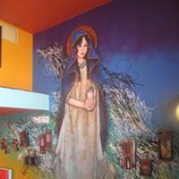 Lea Rizzo Rizzo's installation/portrait of Lady Pink, in tribute to Martha Cooper's iconic portrait of the famous graffiti artist.