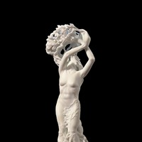 """Myths and Mythologies"" Dario Tazzioli's marble sculpture ""Daphne"" envisions the nymph mid-transformation. PHOTO PROVIDED"