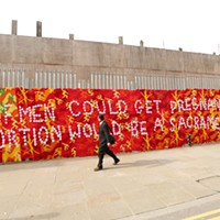Olek Olek's 2014 crochet mural for International Women's Day at Stolen Space Gallery in London. PHOTO COURTESY OLEK