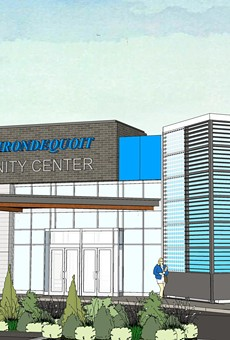rendering of the proposed Irondequoit Community Center.