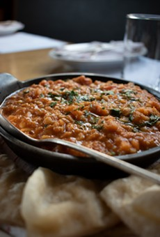 The Red Lentils from Restaurant Good Luck balances sweet with a little heat.