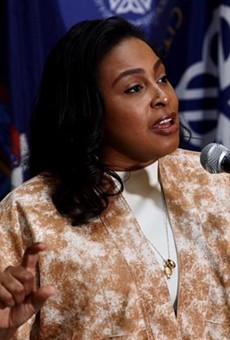 Mayor Lovely Warren talks about plans to explore the possibility of using projected marijuana tax revenue to pay reparations to the city's Black and brown residents on Friday, March 26, 2021.