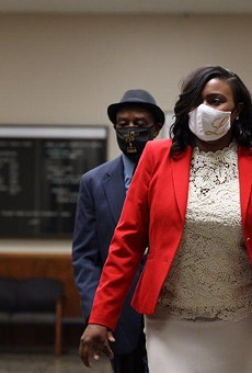 Rochester Mayor Lovely Warren arrives Wednesday morning at the Hall of Justice for arraignment on charges that include criminal possession of a firearm and endangering the welfare of a child.