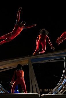 STREB performed in Parcel 5 as part of Friday on the Fringe.