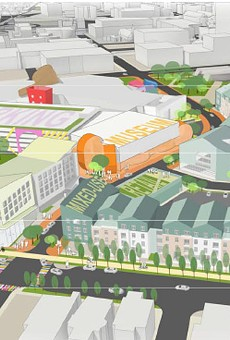 The Strong museum and its partners propose an expansion of the museum, parking for 1,200 cars, a hotel with at least 120 suites, 201 housing units, and a mix of retail.