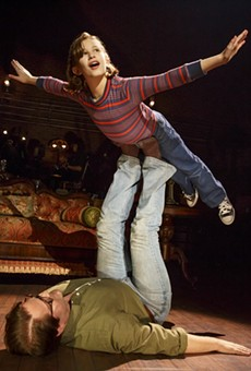 "Alessandra Baldacchino as Small Alison and Robert Petkoff as Bruce in ""Fun Home."""