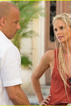 """Vin Diesel and Charlize Theron in """"The Fate of the Furious."""""""
