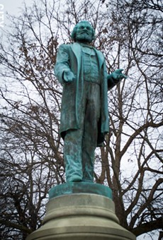 The statue of Frederick Douglass will be moved in 2018 from the bowl area of Highland Park closer to South Avenue.