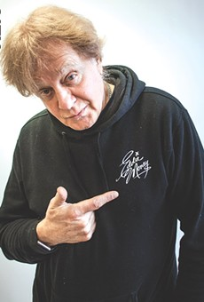 "Left: Veteran rocker Eddie Money created the Broadway-style musical ""Two Tickets to Paradise,"" based on his life. Right: Alec Nevin portrays Money and Morgan Troia plays Money's wife, Laurie, in the show."