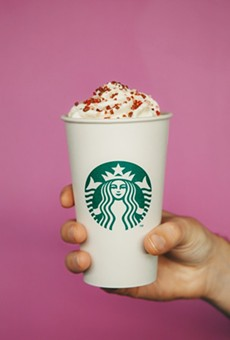 A photo from Starbucks announcement of its cherry mocha.