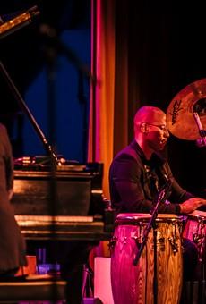 Alfredo Rodriguez and Pedrito Martinez at Xerox Auditorium during the first night of the 2018 Xerox Rochester International Jazz Festival.