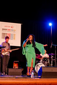 Zara McFarlane performed with her band at Christ Church on Monday as part of the 2018 Xerox Rochester International Jazz Festival.