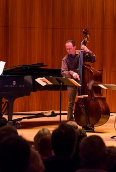 The Gary Versace Trio brought the strange sight of seeing more than just a piano in Hatch Recital Hall.
