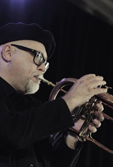 Dmitri Matheny played the Wilder Room on Tuesday at the Xerox Rochester International Jazz Festival.