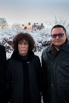 Frederick Douglass Family Initiatives' founders, from left, Robert Benz, Nettie Washington Douglass, and Kenneth Morris were in Rochester last week to participate in a celebration of Frederick Douglass's life.