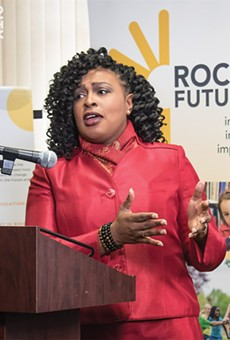 Rochester Mayor Lovely Warren: In an emotional statement, she joined Roc the Future members pushing for improvement in the school district.