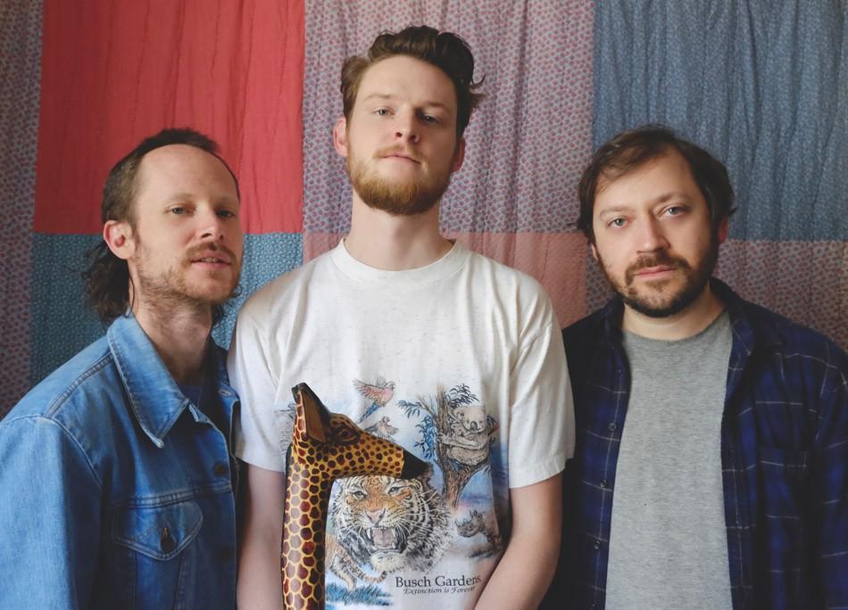 Left to right: Bassist Nick Jost, drummer Sean Mullins, and singer-guitarist Gabriel Birnbaum of Wilder Maker return to Rochester on Friday, June 21. - PHOTO BY ANNIE DEL HIERRO