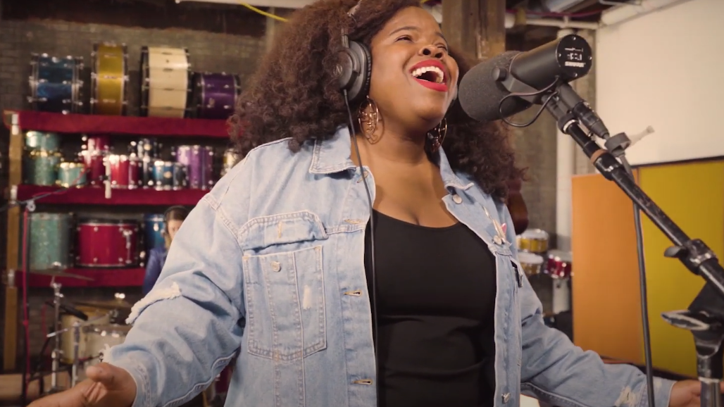 """Danielle Ponder performing """"Poor Man's Pain""""  for NPR's 2020 Tiny Desk Contest. - COURTESY OF NPR"""