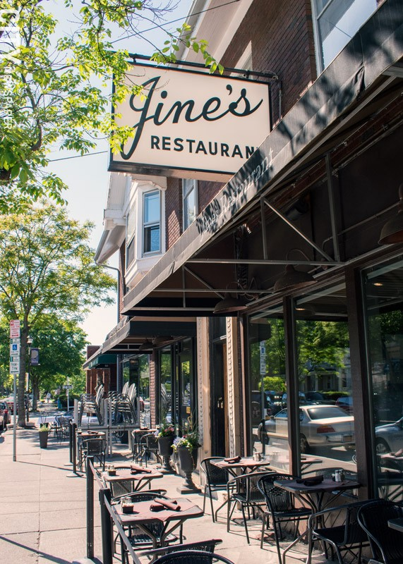Jines's outdoor seating at Park and Berkeley offers some of the best dining-and-people-watching in the city.