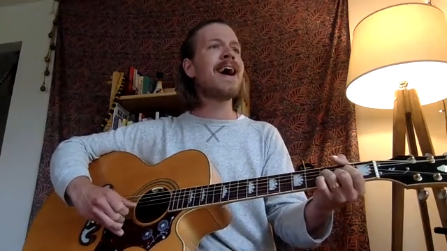Evan Meulemans performing online in May 2020 as part of his Second Sunday series. - YOUTUBE SCREENSHOT
