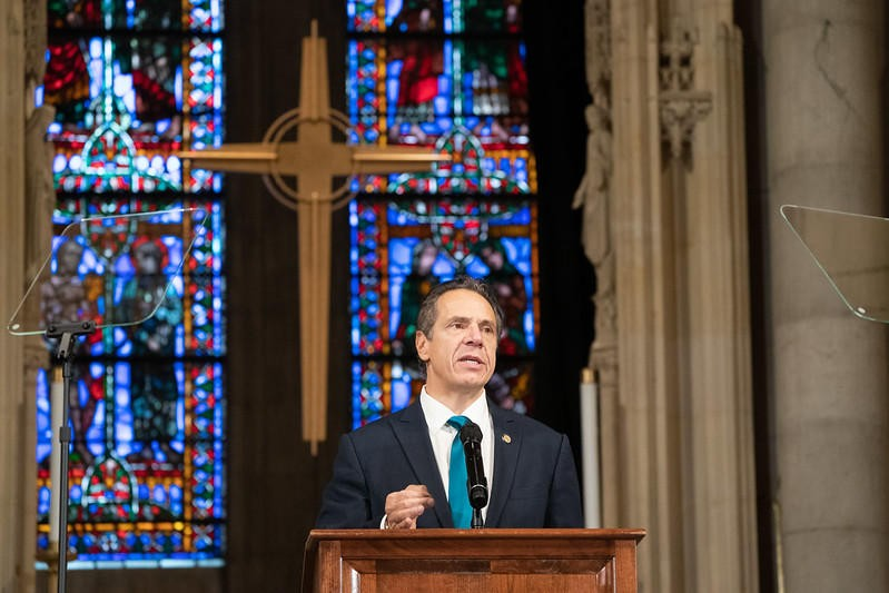 Gov. Andrew Cuomo delivered a speech at the Riverside Church in the Morningside Heights neighborhood of Manhattan Sunday morning. - PHOTO PROVIDED BY GOV. ANDREW CUOMO'S OFFICE