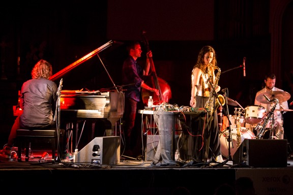 The Splendor performed at the Lutheran Church of the Reformation as part of the 2015 Xerox Rochester International Jazz Festival. - PHOTO BY JOHN SCHLIA PHOTOGRAPHY