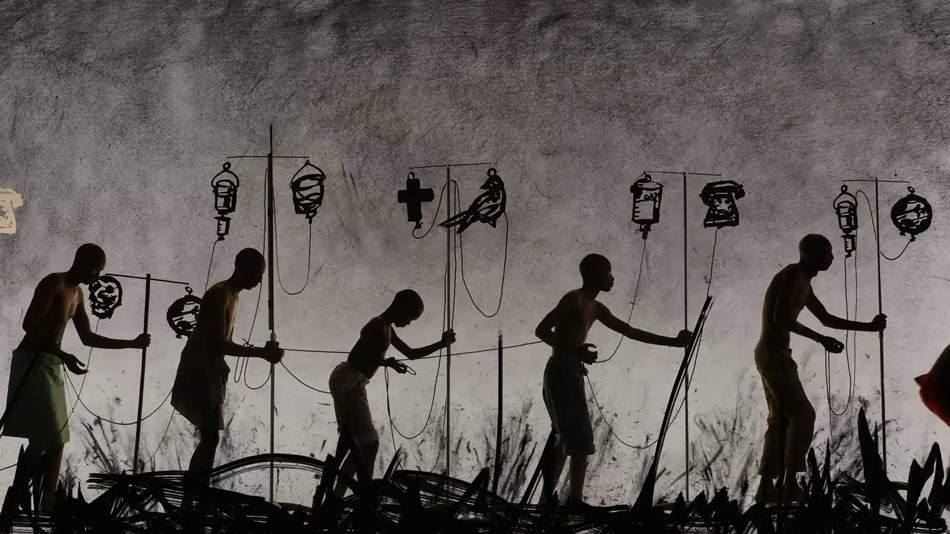 """A digital scan from William Kentridge's """"More Sweetly Play the Dance."""" - PHOTO PROVIDED"""