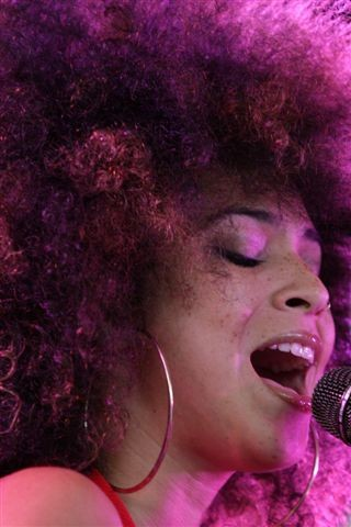 Singer Kandace Springs at Harro East Ballroom on Saturday. - PHOTO BY FRANK DE BLASE