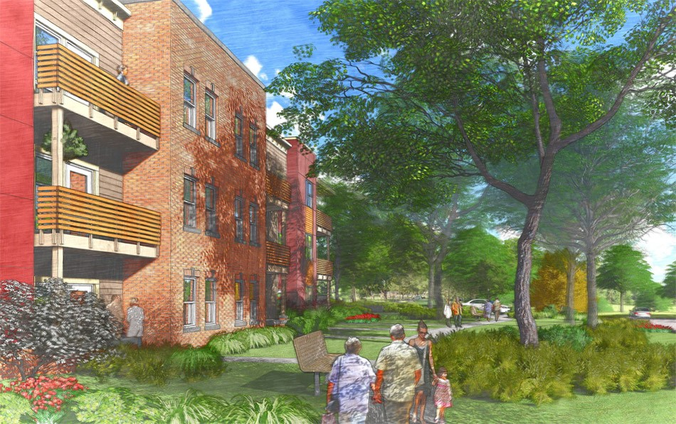 Rochester Management presented new plans for Cobbs Hill Village apartments. - RENDERINGS PROVIDED