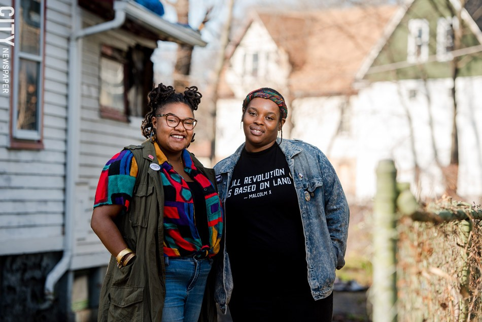 """Kristen Walker, left, and Tonya Noel of Flower City Noire Collective: Filling """"the void of safe spaces"""" for black women. - PHOTO BY JOSH SAUNDERS"""