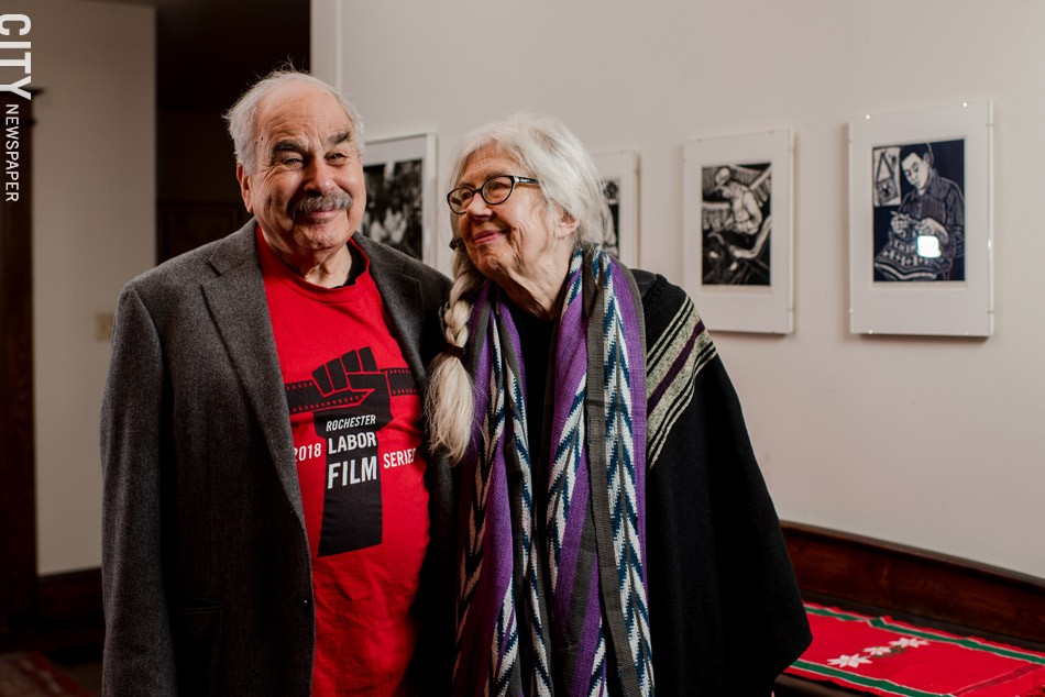 Marilyn Anderson and Jon Garlock: Documenting the contributions of workers. - PHOTO BY JOSH SAUNDERS