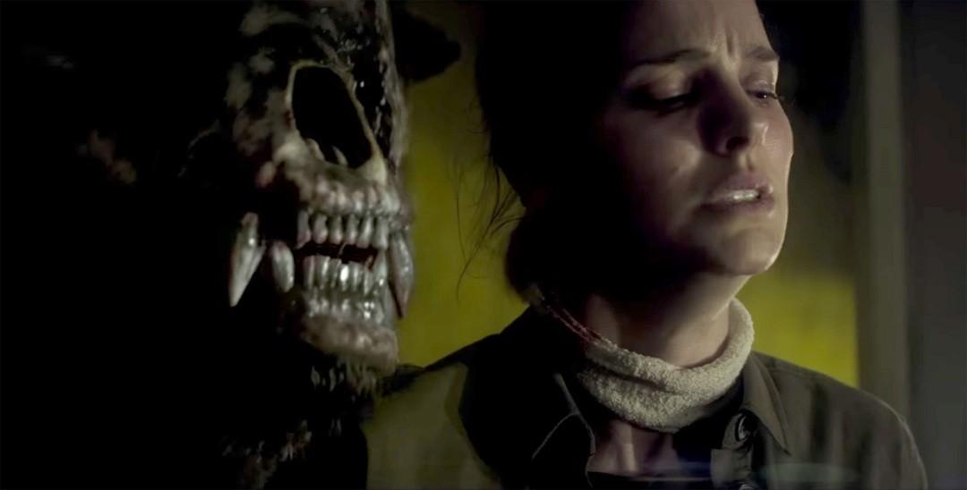 "Natalie Portman and ursine friend in ""Annihilation."" - PHOTO COURTESY PARAMOUNT PICTURES"