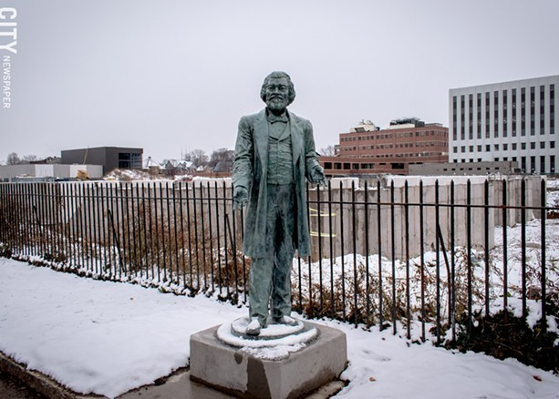 A statue of abolitionist Frederick Douglass fabricated by artist Olivia Kim. - FILE PHOTO