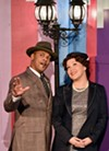 "J. Simmons (as Sky Masterson) and Lani Toyama Hoskins (as Sarah Brown) in ""Guys and Dolls."""