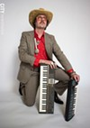 Rochester musician Beef Gordon is an offbeat crooner whose stage presence is somewhere between shady and chic.