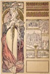 """Alphonse Mucha's color lithograph, """"Paris 1900, Austria at the World's Fair,"""" is part of an extensive exhibition exploring the artist's life and work, currently on view at Memorial Art Gallery."""