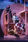 "James and his friends hang out in the Giant Peach during ""James and the Giant Peach: The Musical."""