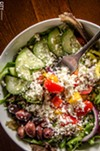 A sizable Greek salad