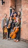 A file photo of Sound ExChange. The group presented a new ensemble, HEX, on Sunday, which included the pictured lineup minus ukulele player Matthew Cox.