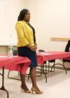 Rochester Mayor Lovely Warren spoke at a meeting of the Beechwood Neighborhood Coalition on Thursday night.