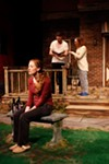 "<p>Jill Rittinger as Catherine, Colin Pazik as Hal, and Stephanie Sheak as Claire in the Blackfriars Theatre production of ""Proof.""</p>"