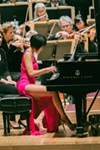 <p>Pianist Yuja Wang performed with the Rochester Philharmonic Orchestra on Thursday, April 14, and Saturday, April 16.</p>