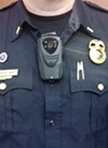 A body camera on a Rochester police officer