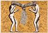 """Alison Saar's 2005 woodcut, """"Tango."""""""