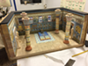 Delehanty recently completed this diorama of the throne room of an Egyptian Court, created for for the Islamic Food Council of America.