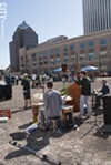 Claude Bennington's Fever Dream played for the latter half of the Earth Day celebration at Parcel 5.