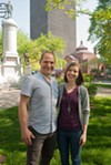Jason and Stefanie Schwingle of the Washington Square Park Community Association are leading a community brainstorming session for the downtown park on Saturday, June 2.