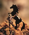 "Untitled 1989 image from David Levinthal's ""Wild West"" series of photographs."