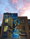 "Nani Chacon's 2017 mural in Kingston, New York, titled ""We've Always Found Our Way Home."""